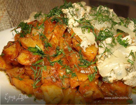 Картофель, запеченный в томате