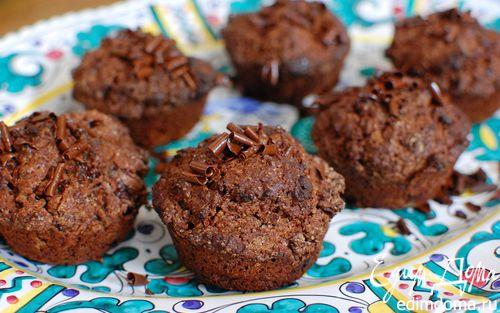 Рецепт Шоколадные маффины с черешней