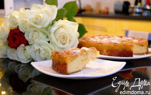 Рецепт Яблочный пирог со сливочной заливкой