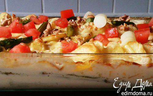 Рецепт Гратен из спаржи и картофеля