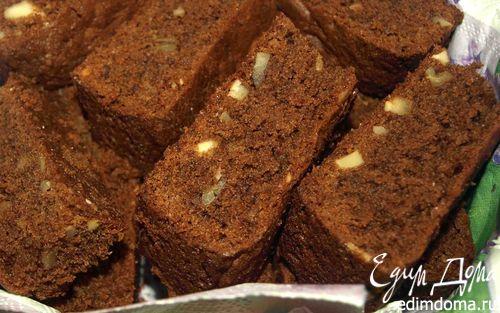 Рецепт Шоколадный кекс с миндалем и орехами пекан