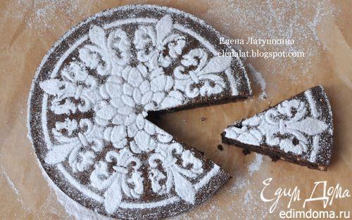 Рецепт Черемуховый пирог с миндалем и грецкими орехами