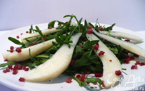 """Рецепт Салат из руколы с карамелизированной грушей для Дарины """"С возвращением!"""""""
