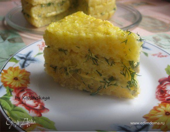 Закусочный торт из поленты с сыром