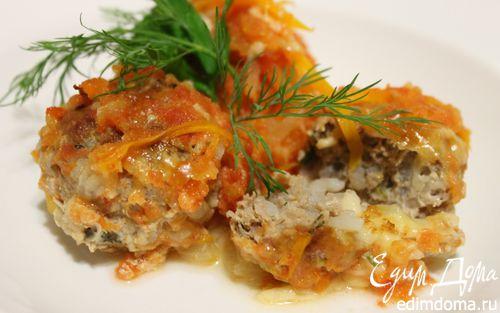 Рецепт Тефтели с сыром и овощами