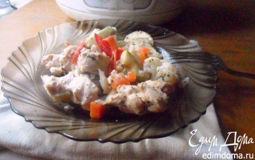 Рецепт Курица с овощами в мультиварке