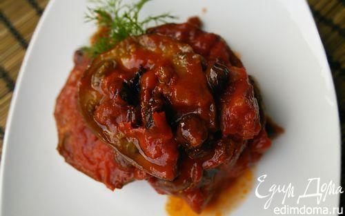 Рецепт Баклажаны в томатном соусе с изюмом