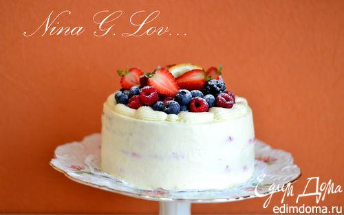 Рецепт Медовый торт с малиновым мармеладом