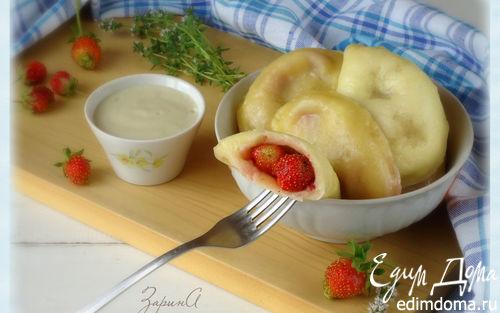 Рецепт Вареники творожные с ванильно-тимьяновым соусом