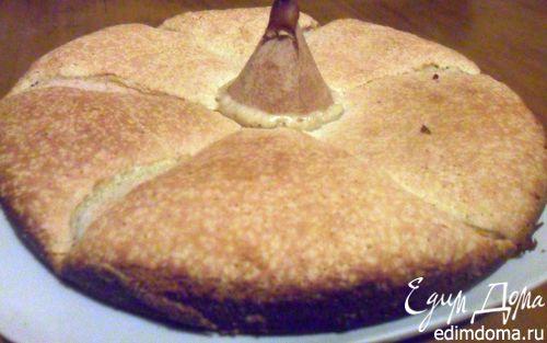 Рецепт Бисквитный пирог с грушами