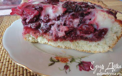 Рецепт Вишневый пирог со сливочной глазурью