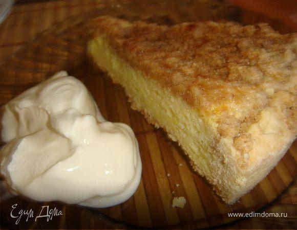 Песочный пирог со сливочно-молочной начинкой