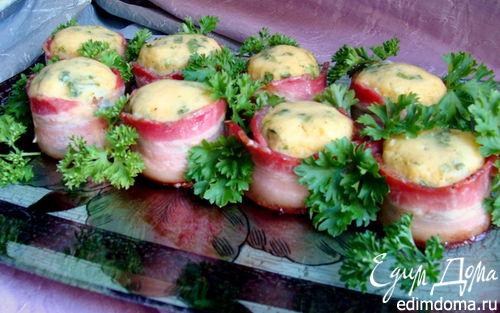 Рецепт Запеченные картофельные биточки в беконе