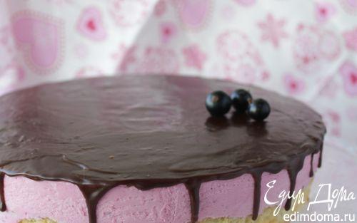 Рецепт Торт с муссом из черной смородины