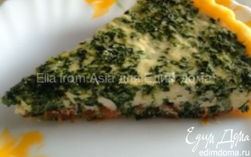 Рецепт Киш со шпинатом, фетой и вялеными томатами