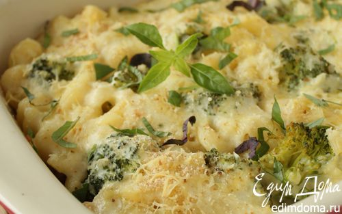 Рецепт Гратен из макарон, куриной грудки и брокколи