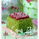 Пирожное Шпинат-малина