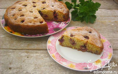 Рецепт Сметанный пирог с клубникой