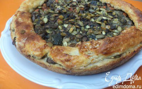 Рецепт Пирог с начинкой из овощей и шампиньонов
