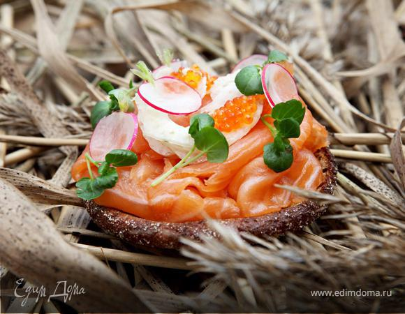 Рейссумиес с лососем и фенхелем