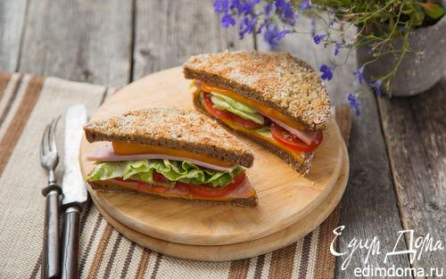 Рецепт Сэндвич с ветчиной и сыром