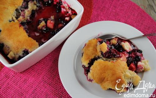 Рецепт Кобблер с яблоками и черной смородиной