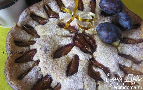 Рецепт Пряный сливовый пирог с медом