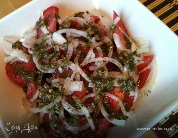 Обычный салат с необычной заправкой