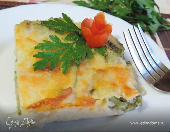 Брокколи, запеченная под сырным соусом