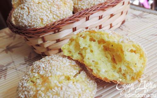 Рецепт Творожно-сырные булочки (без дрожжей)