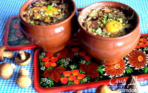 Рецепт Грибное рагу в горшочках