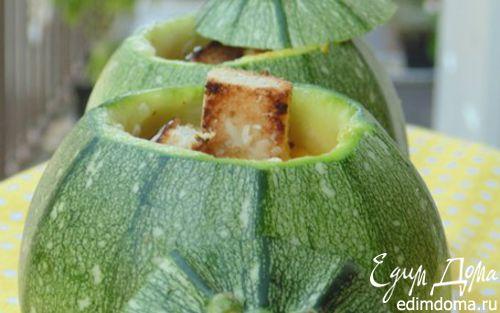 Рецепт Cуп-пюре с курицей, овощами и пармезановыми гренками