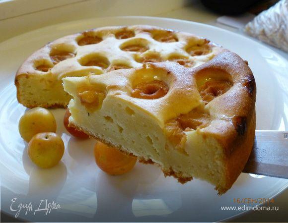 Сливовый пирог с маскарпоне