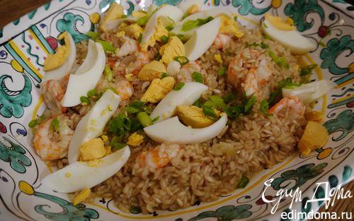 Рецепт Плов из бурого риса с креветками