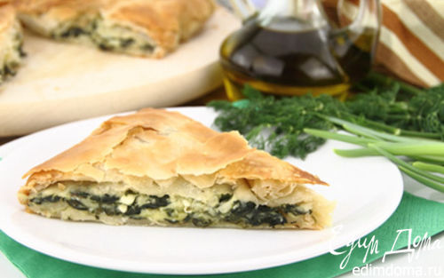 Рецепт Греческий пирог со шпинатом Σπανακόπιτα