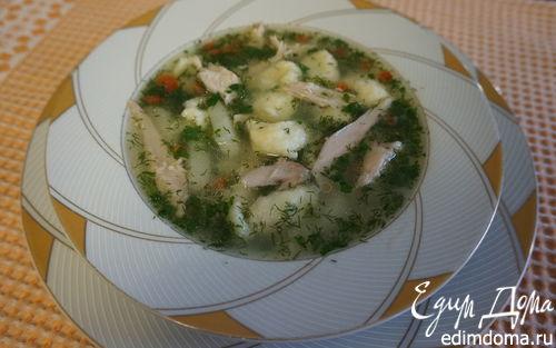Рецепт Индюшиный суп с клецками