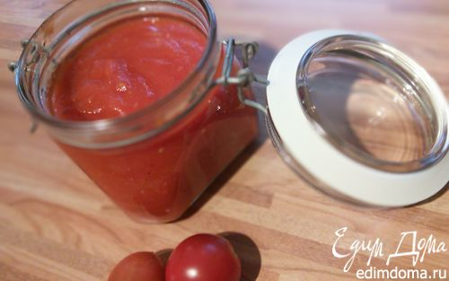 Рецепт Домашний томатно-яблочный кетчуп со свежими пряными травами