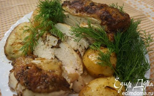 Рецепт Куриная грудка с лимоном и картофелем