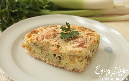 Рецепт Насыпной пирог с творогом и зеленью