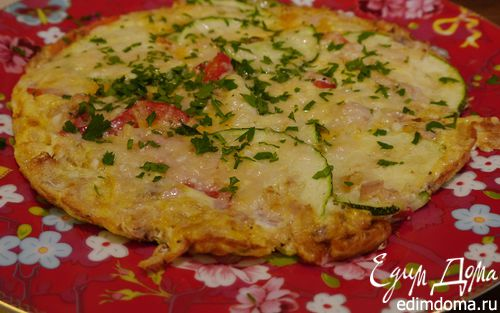 Рецепт Фриттата с тунцом, кабачком и сладким перцем
