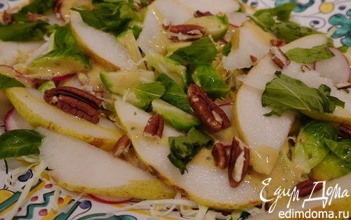 Рецепт Хрустящий капустный салат с грушей и орехами