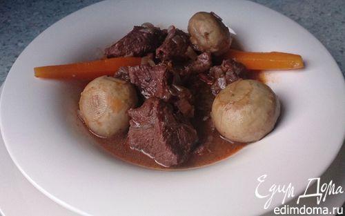 Рецепт Говядина в винном соусе