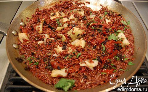 Рецепт Красный рис с артишоками и кардамоном