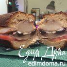 Хрустящий сэндвич с грушами-гриль и запеченными грибами