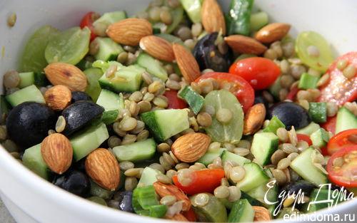 Рецепт Итальянский салат из чечевицы и винограда