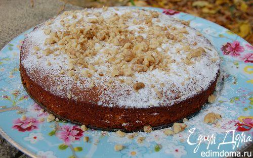 Рецепт Апельсиновый кекс с орехами и медом