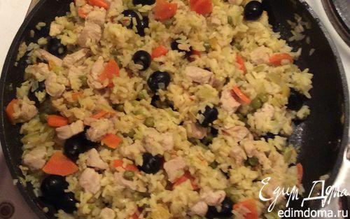 Рецепт Паэлья с курицей и овощами