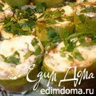 Кабачки, фаршированные творожным сыром