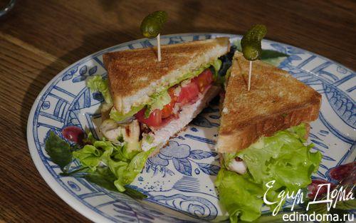 Рецепт Классический клаб-сэндвич с домашним майонезом