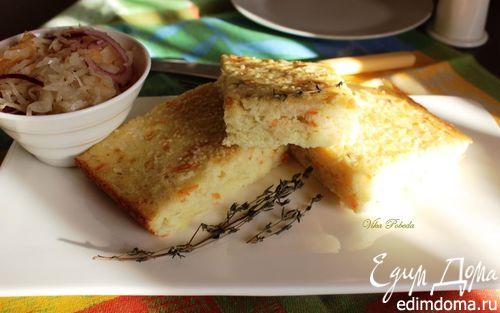 Рецепт Манный пирог с квашеной капустой